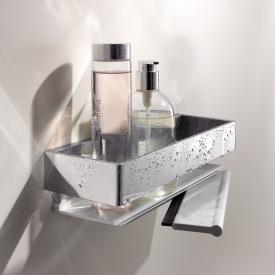 Keuco Edition 11 shower basket with squeegee silver anodised/chrome