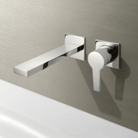 Keuco Edition 11 wall-mounted, single lever basin mixer projection: 197 mm, chrome