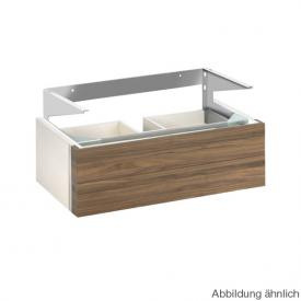 Keuco Edition 300 vanity unit with 2 pull-out compartments front sahara/corpus white