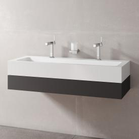 Keuco Edition 300 washbasin with vanity unit with 1 pull-out compartment front anthracite / corpus anthracite