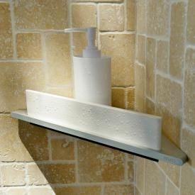 Keuco Edition 400 corner shower shelf with glass wiper