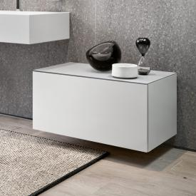 Keuco Edition 90 sideboard with 1 pull-out compartment front matt white / corpus matt white