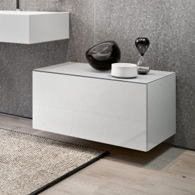 Keuco Edition 90 sideboard with 1 pull-out compartment front white high gloss / corpus white high gloss