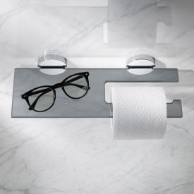 Keuco Edition 90 toilet roll holder with glass shelf
