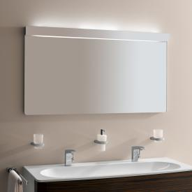Keuco Elegance illuminated mirror Top: white light tube/Bottom: white light tube