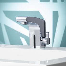 Keuco Elegance IR-sensor basin mixer 120, mains operated with pop-up waste set