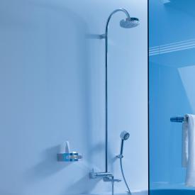 Keuco Elegance single lever bath mixer with overhead shower