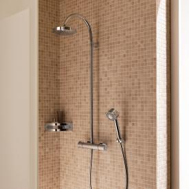 Keuco Elegance thermostatic mixer with overhead shower