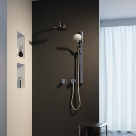 Keuco IXMO shower system, with IXMO Pure thermostat & EDITION 400 shower set, round