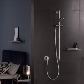 Keuco IXMO SOLO shower rail, round chrome