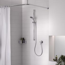 Keuco IXMO SOLO shower set, with single lever mixer, round