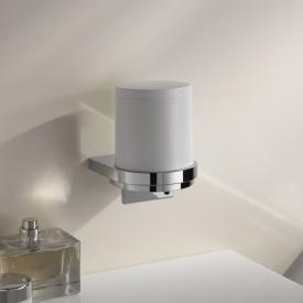 Keuco Moll soap dispenser with cover cup chrome/white