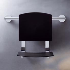 Keuco Plan Care hanging foldable seat chrome/black grey