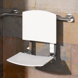 Keuco Plan Care hanging foldable seat chrome/white