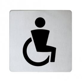 Keuco Plan doorplate Symbol Disabled stainless steel