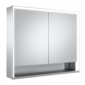 Keuco Royal Lumos mounted mirror cabinet with LED lighting with 2 doors