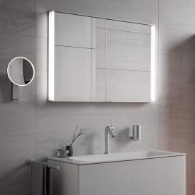 Keuco Royal Match recessed mirror cabinet with LED lighting