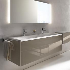 Keuco Royal Reflex mineral cast double washbasin with 2 tap holes, without overflow