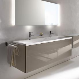 Keuco Royal Reflex vanity unit for drop-in washbasin with 1 pull-out compartment front truffle glass / corpus silk matt truffle