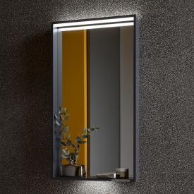 Keuco X-Line LED mirror silk matt anthracite, warm white, without heated mirror