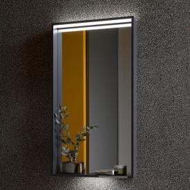 Keuco X-Line mirror with DALI LED lighting silk matt anthracite, without mirror heating