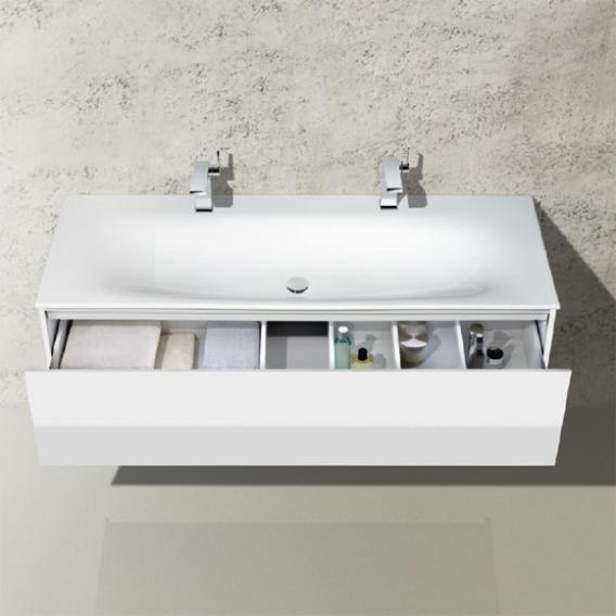 Keuco EDITION 11 ceramic double washbasin with 2 tap holes, without overflow