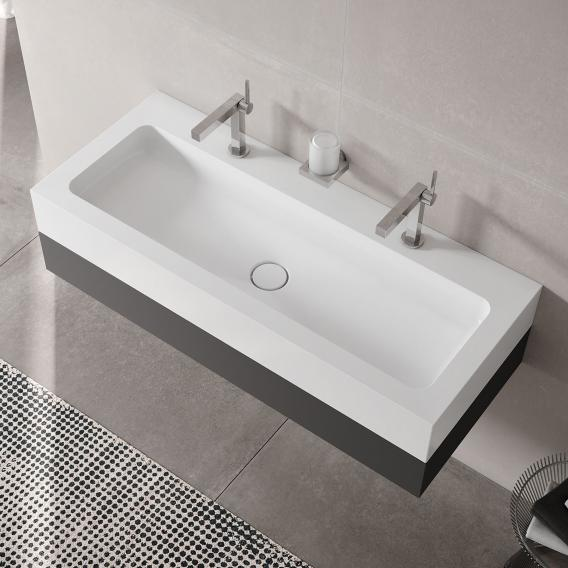 Keuco Edition 300 Washbasin With Vanity Unit And Royal Lumos Led Mirror Cabinet Front Anthracite Corpus Anthracite 39613390200 14305171301 Reuter