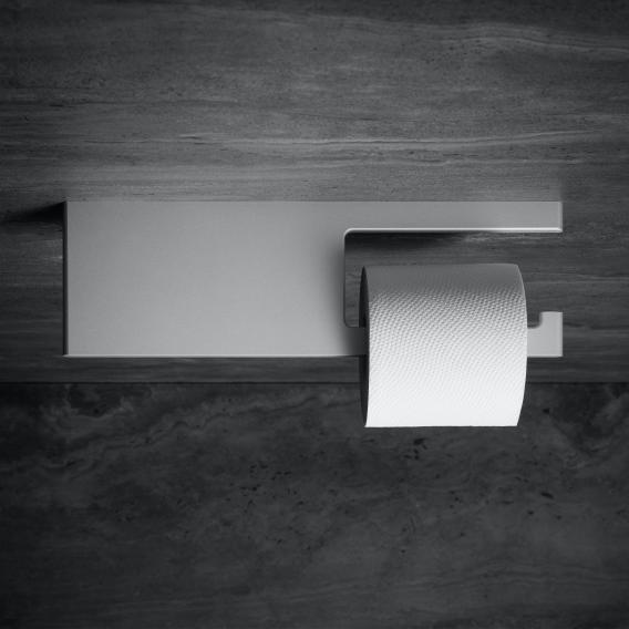 Keuco Edition 400 toilet roll holder with storage surface
