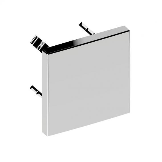 Keuco IXMO cover plate for vacuum breaker, square chrome