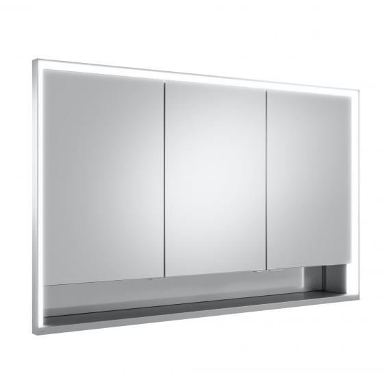 Keuco Royal Lumos recessed mirror cabinet with LED lighting with 3 doors