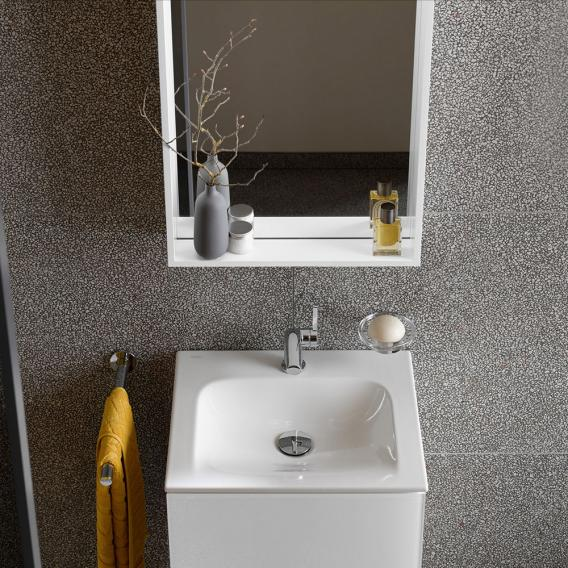 Keuco X-Line crystal mirror silk matt white