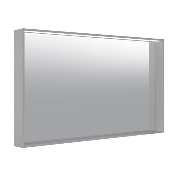Keuco X-Line mirror with LED lighting silk matt inox, adjustable colour temperature, without mirror heating