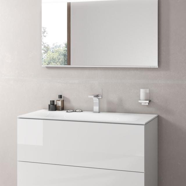 Keuco Edition 11 ceramic washbasin with 1 tap hole, with concealed overflow