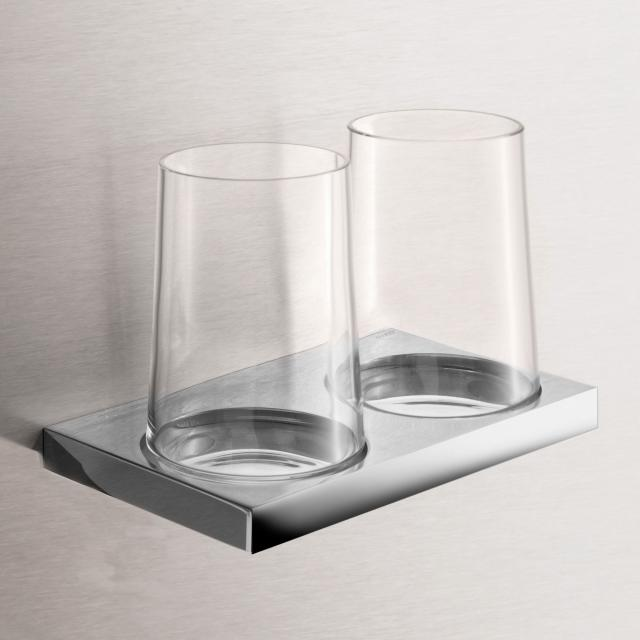 Keuco Edition 11 wall-mounted double tumbler holder chrome
