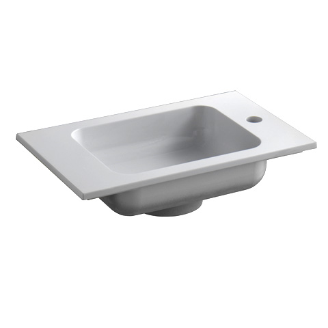 Keuco Edition 300 mineral cast hand washbasin with tap hole