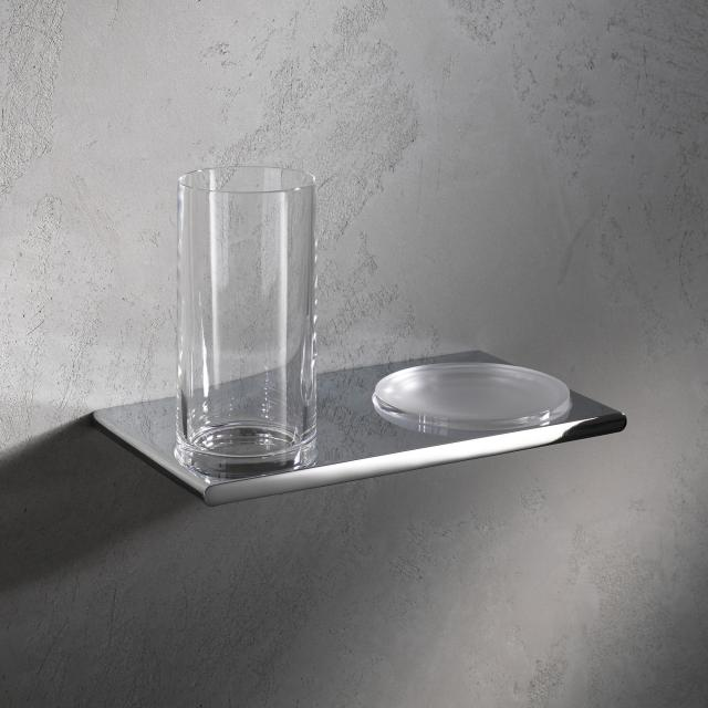Keuco Edition 400 double holder with tumbler and soap dish chrome