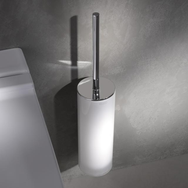Keuco Edition 400 toilet brush set chrome