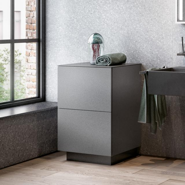 Keuco Edition 90 sideboard with 2 pull-out compartments front matt anthracite / corpus matt anthracite