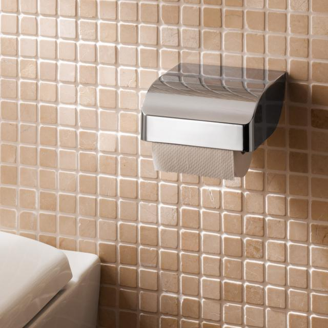 Keuco Elegance toilet roll holder with cover