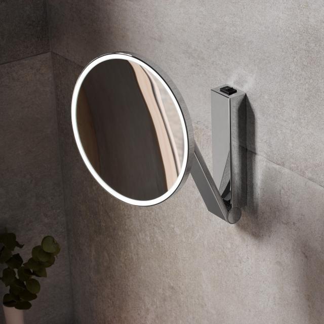 Keuco iLook_move beauty mirror Ø 212 mm, 1 light colour
