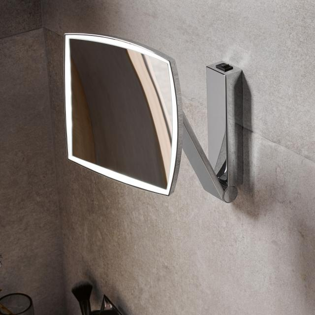 Keuco iLook_move beauty mirror W: 200 H: 200 mm, 1 light colour chrome