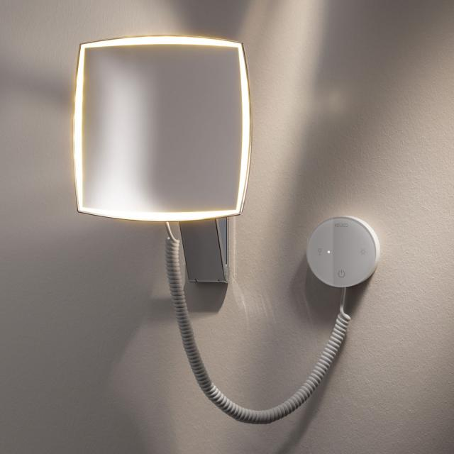 Keuco iLook_move beauty mirror with concealed transformer, adjustable light colour