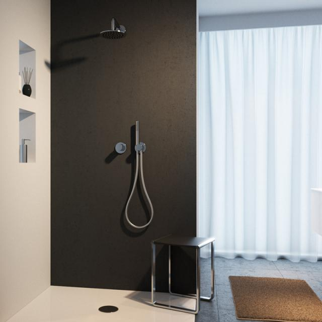 Keuco IXMO shower system, with IXMO Pure thermostat, round