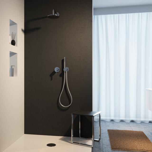 Keuco IXMO shower system, with IXMO single lever mixer, round