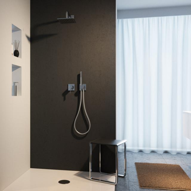 Keuco IXMO shower system, with IXMO single lever mixer, square