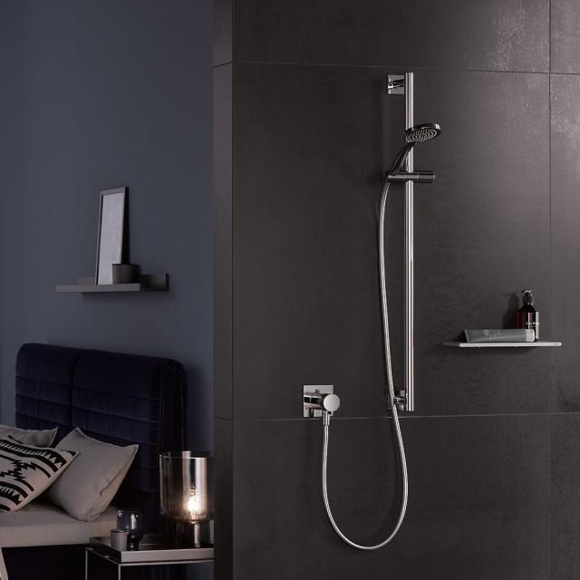 Keuco IXMO SOLO shower rail, square chrome