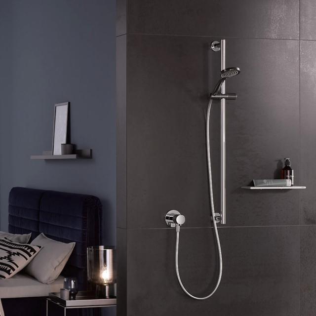 Keuco IXMO SOLO NEW shower set, with single lever mixer, round
