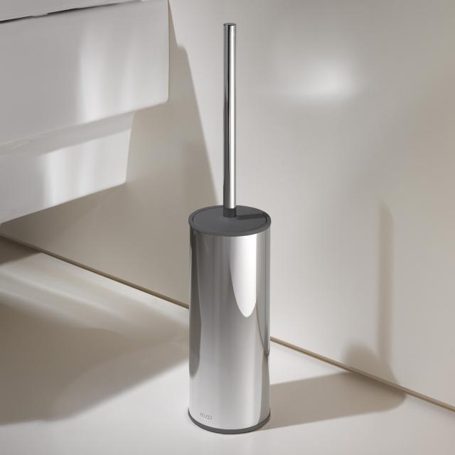 Keuco Moll toilet brush set, freestanding chrome/anthracite