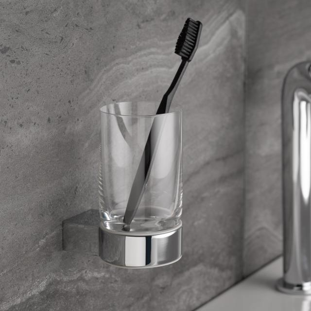 Keuco Plan acrylic glass tumbler set chrome