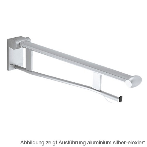 Keuco Plan Care folding support rail for toilet chrome/light grey, projection 700 mm